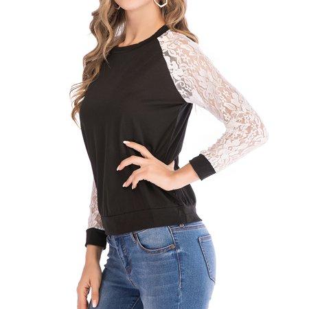 b2dbb390 SAYFUT - SAYFUT Women Long Sleeve Triple Color Striped Round Neck T-Shirt  Casual Blouse Tee Plus Size - Walmart.com