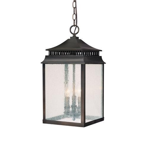 Capital Lighting 9116OB 3 Light Outdoor Hanging Lantern from the Sutter Creek Collection, Old Bronze by Overstock