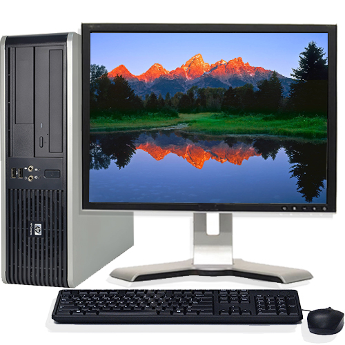 "Refurbished Desktop Computers HP Desktop PC Bundle System Windows 10 Intel 2.13GHz Processor 4GB Ram 500GB Hard Drive with a 19"" LCD Monitor and Wifi"