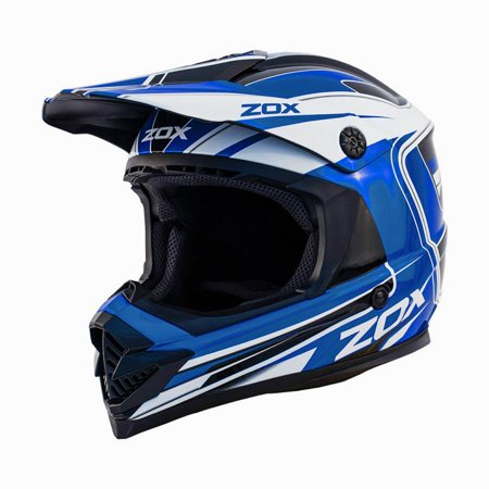 ZOX RUSH LUCID - Junior Youth Street Motocross Dirt Off-Road Motorcycle Helmet - Blue - image 3 de 3