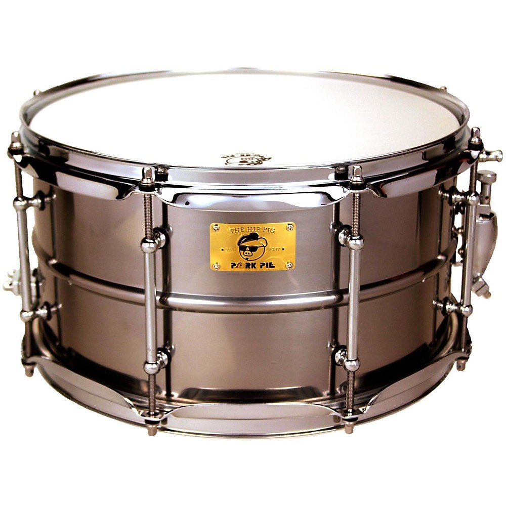Pork Pie Polished Raw Iron Snare Drum 13 x 7 in.