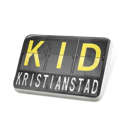 - Porcelein Pin KID Airport Code for Kristianstad Lapel Badge – NEONBLOND