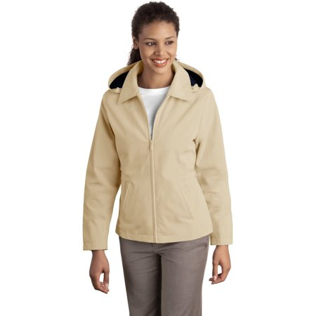 Port Authority L764 Ladies Legacy Jacket - Stone/Dark Navy - X-Small