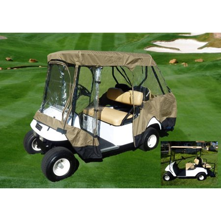 Formosa Covers Golf Cart Driving Enclosure for 4 seater with 2 seater roof up to 58""