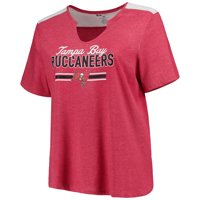 7f8f1ba42 Women s Majestic Heathered Red Tampa Bay Buccaneers Notch Neck Plus Size  T-Shirt