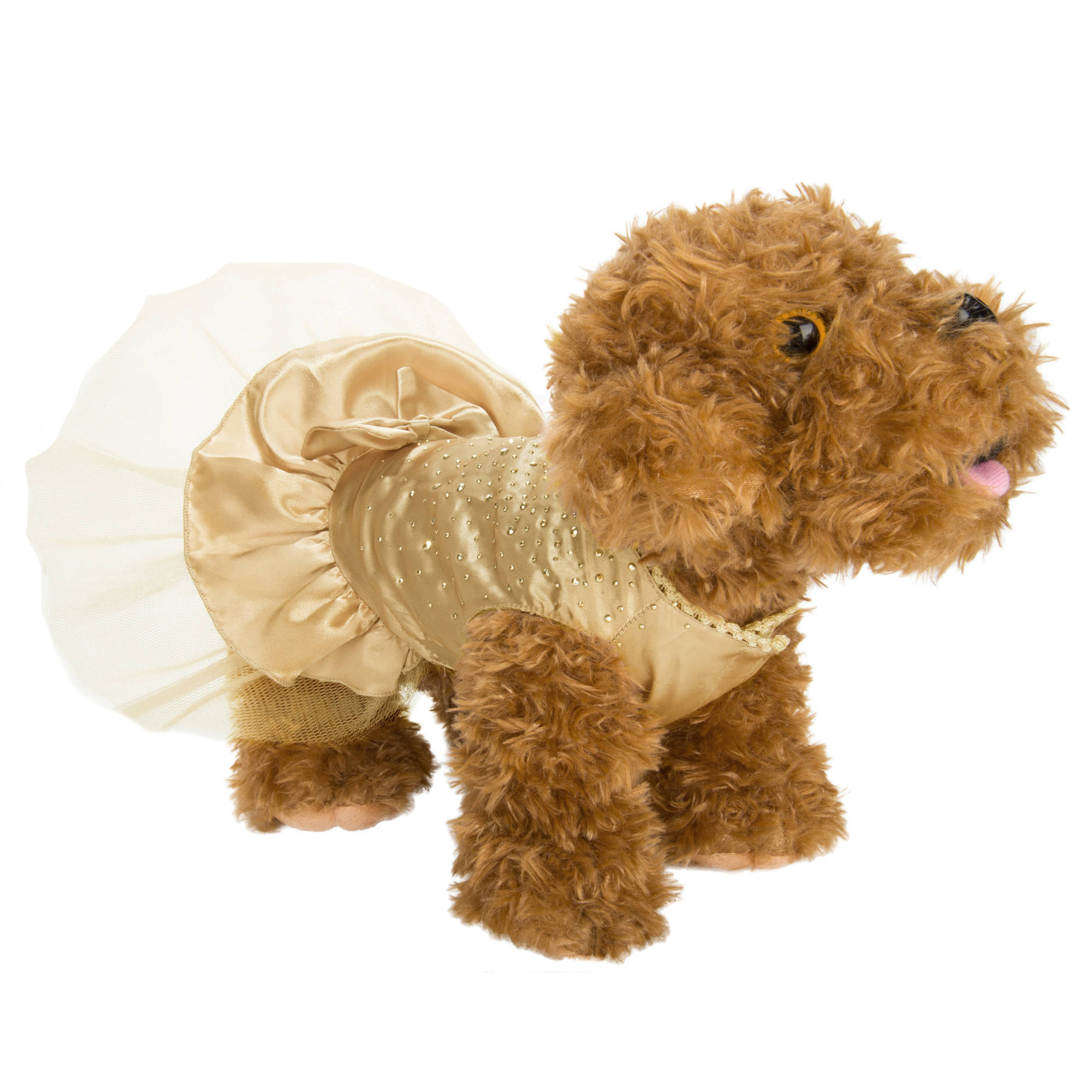 CUECUEPET Sequin Princess Dog Silk Dress for Female/Girl Dogs or Puppies