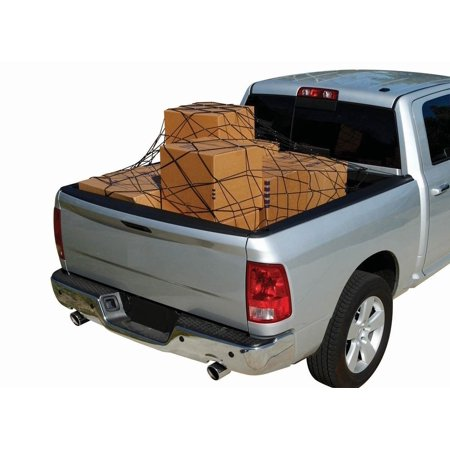 """Cargo Net Bed Tie Down Hooks for Chevy Silverado Full Size Short Bed 66"""" x 74"""" NEW"""