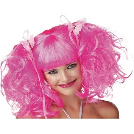 Pixie Adult Halloween Wig - Neon Pink Wigs