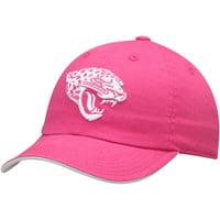 Jacksonville Jaguars Girls Youth Primary Logo Slouch Adjustable Hat - Pink - OSFA