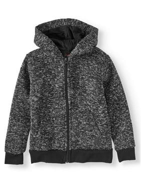 Phat Farm Raglan Zip Up Sweater Fleece Hoodie (Little Boys)