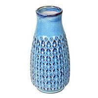 "Vickerman 589601 - 11"" Powder Blue Mini Texture Ceramic Pot (FQ198611) Home Decor Vases"