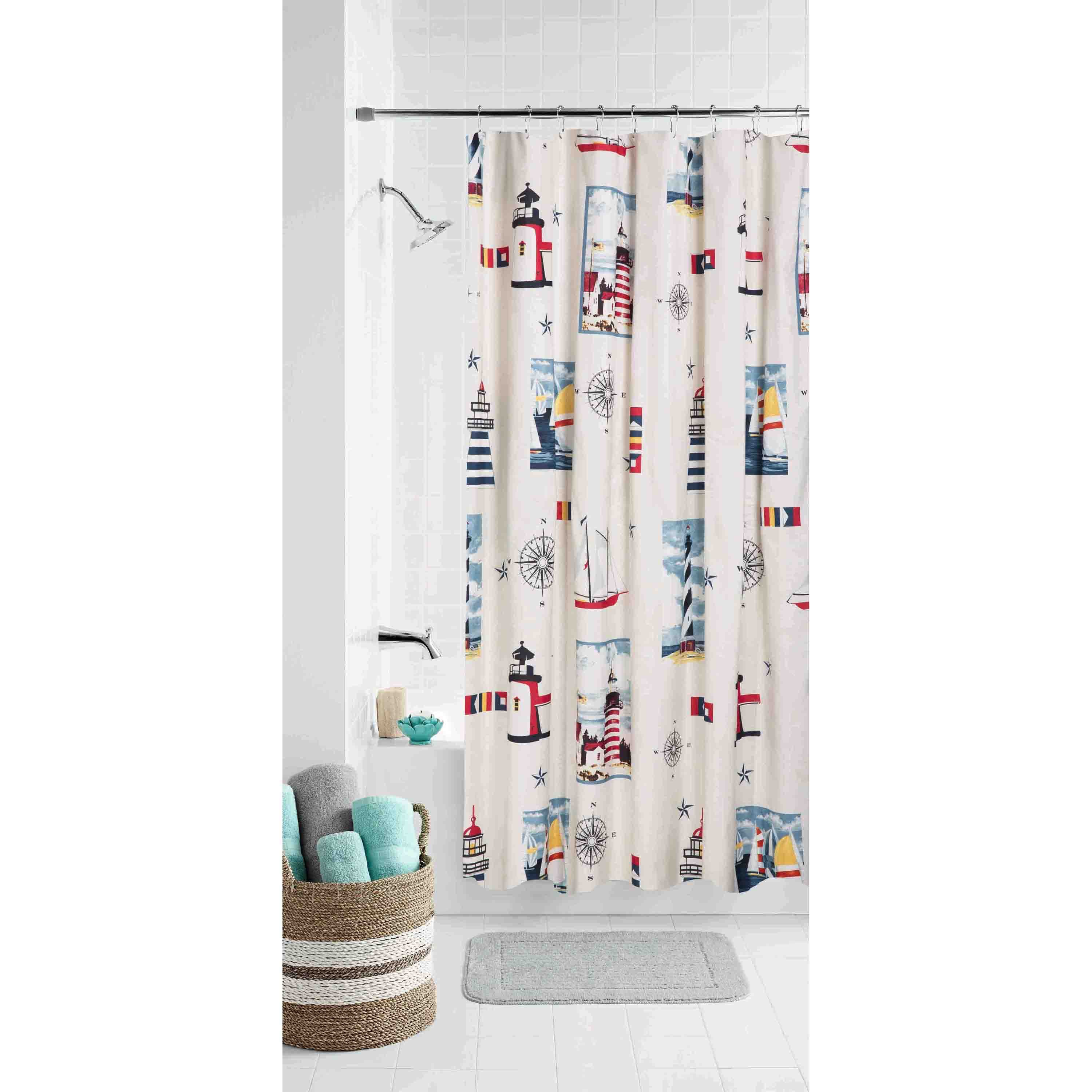 Mainstays Lighthouse Shower Curtain