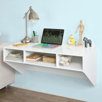 Haotian Wall-mounted TableDesk,Home Office Desk Workstation,FWT14-W,White