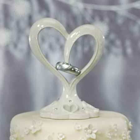Weddingstar 9277 Stylized Heart & Wedding Bands Cake