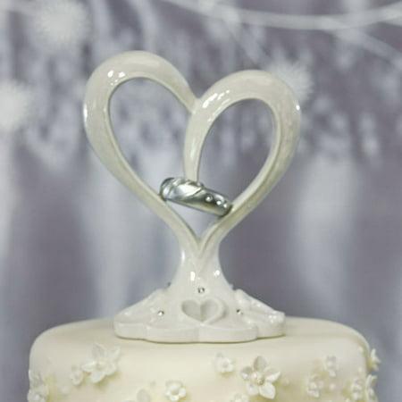 Weddingstar 9277 Stylized Heart & Wedding Bands Cake Topper