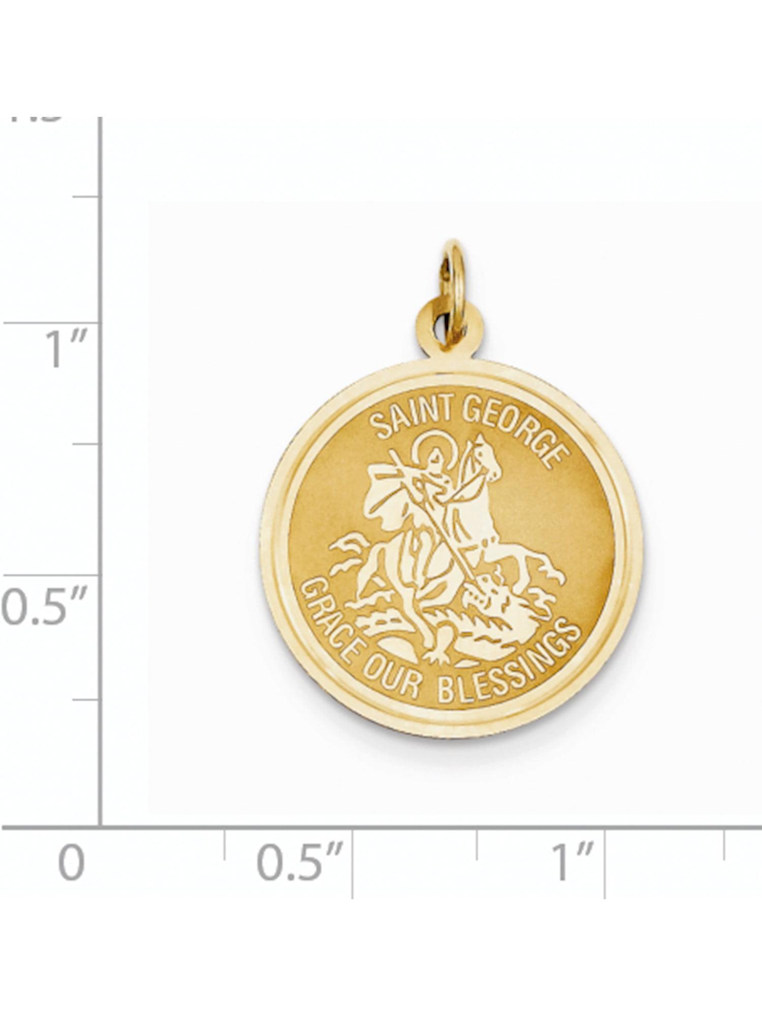 14k Yellow Gold Saint Geoe Medal Charm