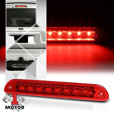 Chrome/Red Rear LED Third [3rd] Brake Light for 01-07 Ford Escape/05-07 Mariner 02 03 04 05 06 06 Rear Set Premium Brake
