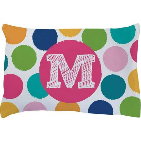 Fleece Pillowcase (Her Initial Personalized Plush Fleece Pillowcase )
