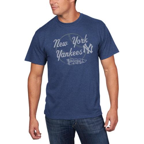 Men's Majestic Heathered Navy New York Yankees Capacity To Win T-Shirt