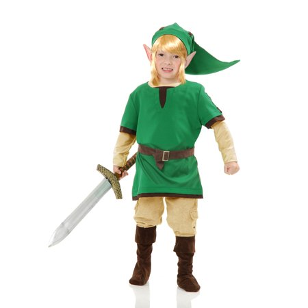 Child Elf Warrior Costume Charades 00445V - Warrior Costume For Kids