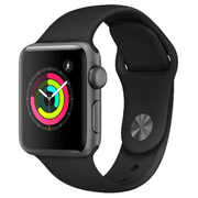 Refurbished Apple Watch Series 2 38mm Space Gray Case - Black Sport Band
