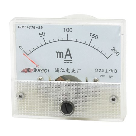 Unique Bargains DC 0-200mA Fine Tuning Dial Panel Ampere Meter 85C1