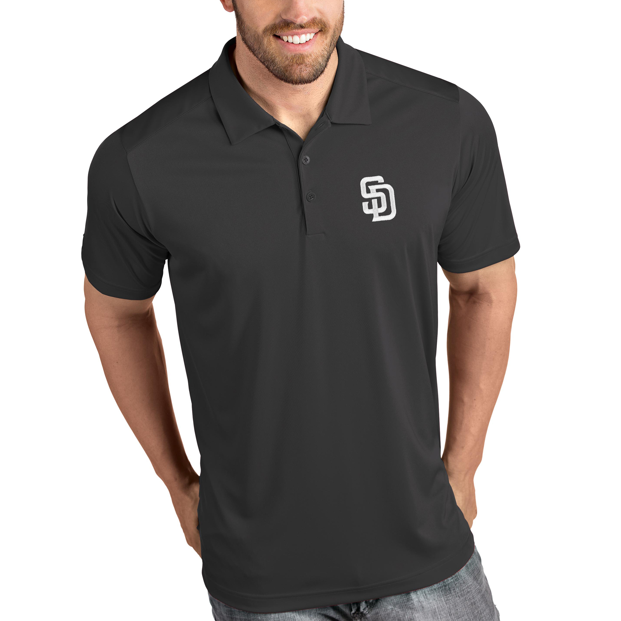 San Diego Padres Antigua Tribute Polo - Gray