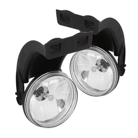 Spec-D Tuning For 1994-2001 Dodge Ram 1500 2500 3500 Clear Bumper Fog Driving Lights with 881 Bulbs 1994 1995 1996 1997 1998 1999 2000
