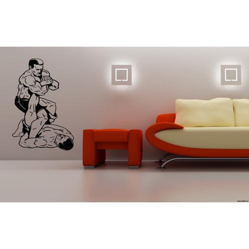 Stickalz llc Fights without rules Fight wrestling Capture Wall Art Sticker Decal