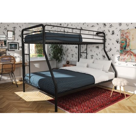 Twin Over Full Solid Pine Bed (DHP Twin Over Full Metal Bunk Bed Frame, Multiple)