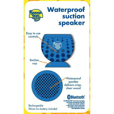 Banana Boat Waterproof Suction Bluetooth Speaker