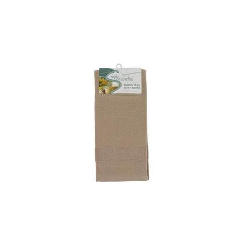 Kay Dee Designs R0680 Taupe Double Duty Terry Kitchen Towel - Pack of 6