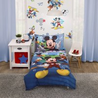 Disney Mickey Mouse Zero Gravity Toddler Bedding Set, 4-Piece