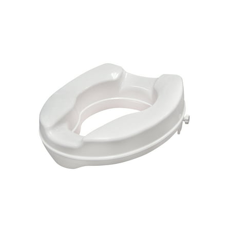 Drive Medical Raised Toilet Seat with Lock, Standard Seat, 2
