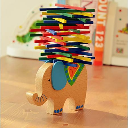 Kids Educational Toys elephant Wooden Balance Game Montessori Blocks Toys Gift