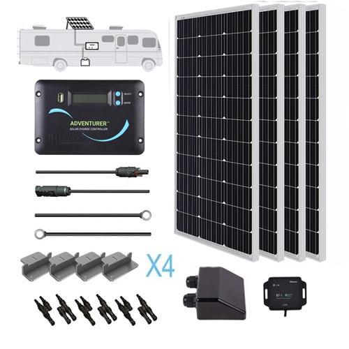 Renogy 400 Watts 12 Volts Monocrystalline Solar RV Kit Off-Grid Kit