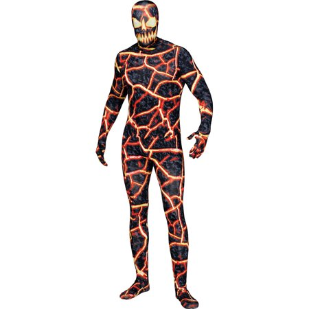 Costume Demon (Adult's Mens Volcano Demon Erupto Bodysuit Costume Standard)