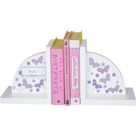 - Personalized Butterflies lavender Childrens Bookends