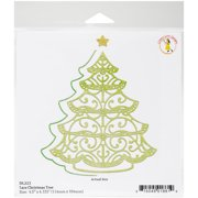 Cheery Lynn Designs Doily Die-Lace Christmas Tree, 4.5 Inch To 2.1