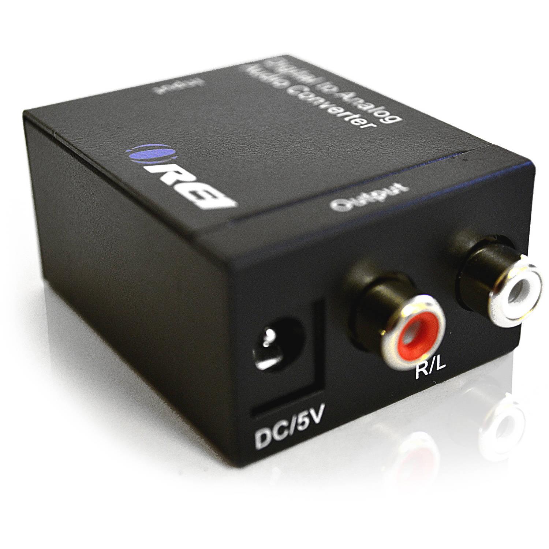Orei DA9 Digital Optical Coax Coaxial Toslink to Analog RCA L\/R Audio Converter