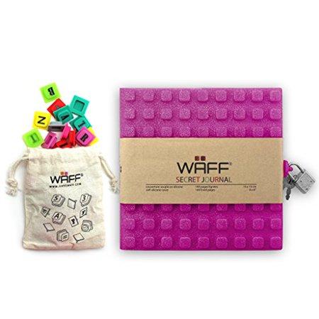 WAFF Soft Silicone Secret Journals Combo 70 Alphabet Cubes - Fuchsia Glitter - image 1 of 1