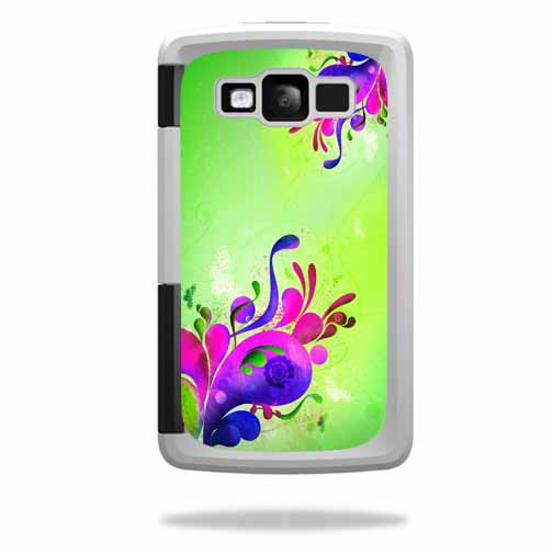 Mightyskins Protective Vinyl Skin Decal Cover for OtterBox Armor Samsung Galaxy S III 3 Case wrap sticker skins Pastel Flourishes