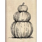 "Inkadinkado Mounted Rubber Stamp 2.25""X3""-Pumpkin Topiary"