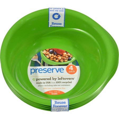 Preserve Everyday Bowls - Apple Green - Pack of 8 - 4 Pack - 16 Oz