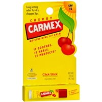 Carmex Click-Stick Moisturizing Lip Balm SPF 15, Cherry 0.15 oz (Pack of 6)
