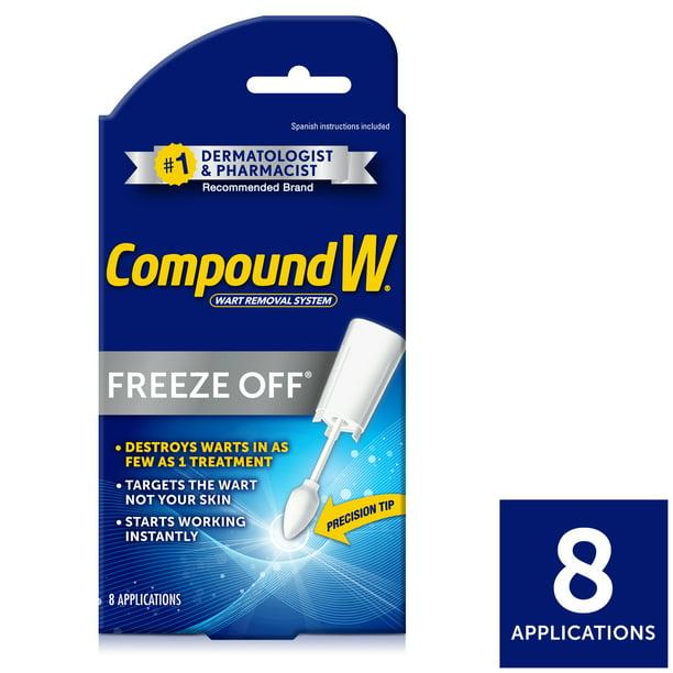 Compound W Freeze Off Wart Remover 8 Applications Walmart Com Walmart Com