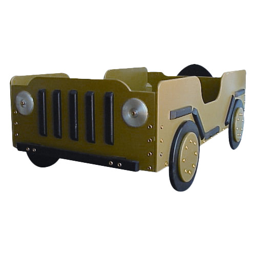Just Kids Stuff Military Toddler Car Bed