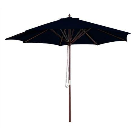 4923859325 9' Wood Market Umbrella, Multiple Colors