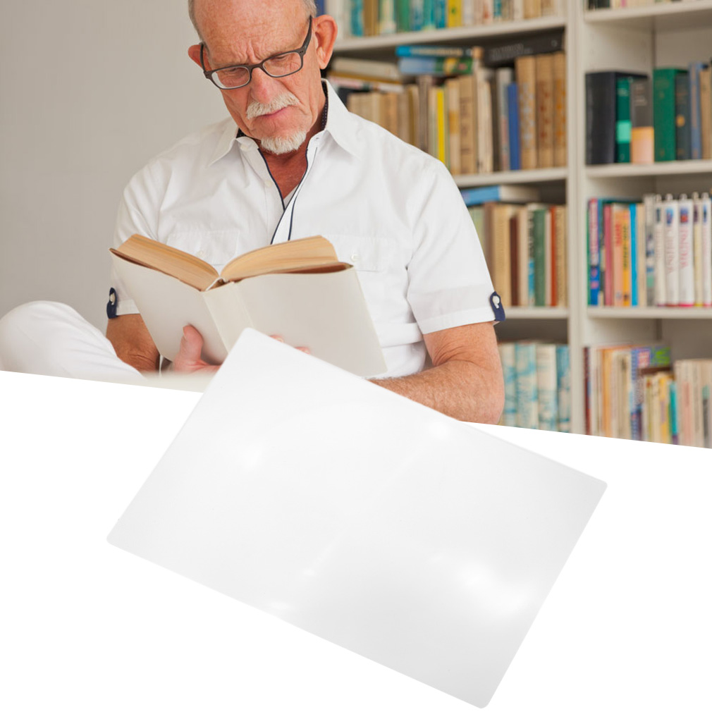 XL Full Page Magnifying Sheet Fresnel Lens 3X Magnification Magnifier
