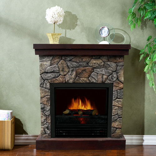 Stonegate Telluride Electric Fireplace by Overstock